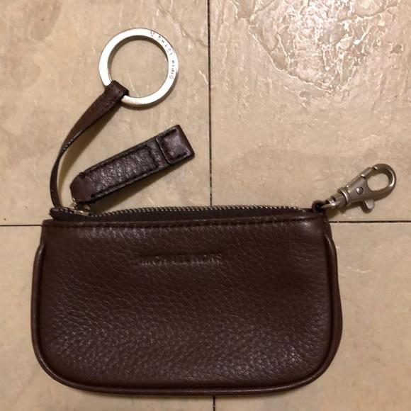 Michael Kors Accessories   Mini Leather Wallet With Key Chain   Poshmark 8f8ef0c927